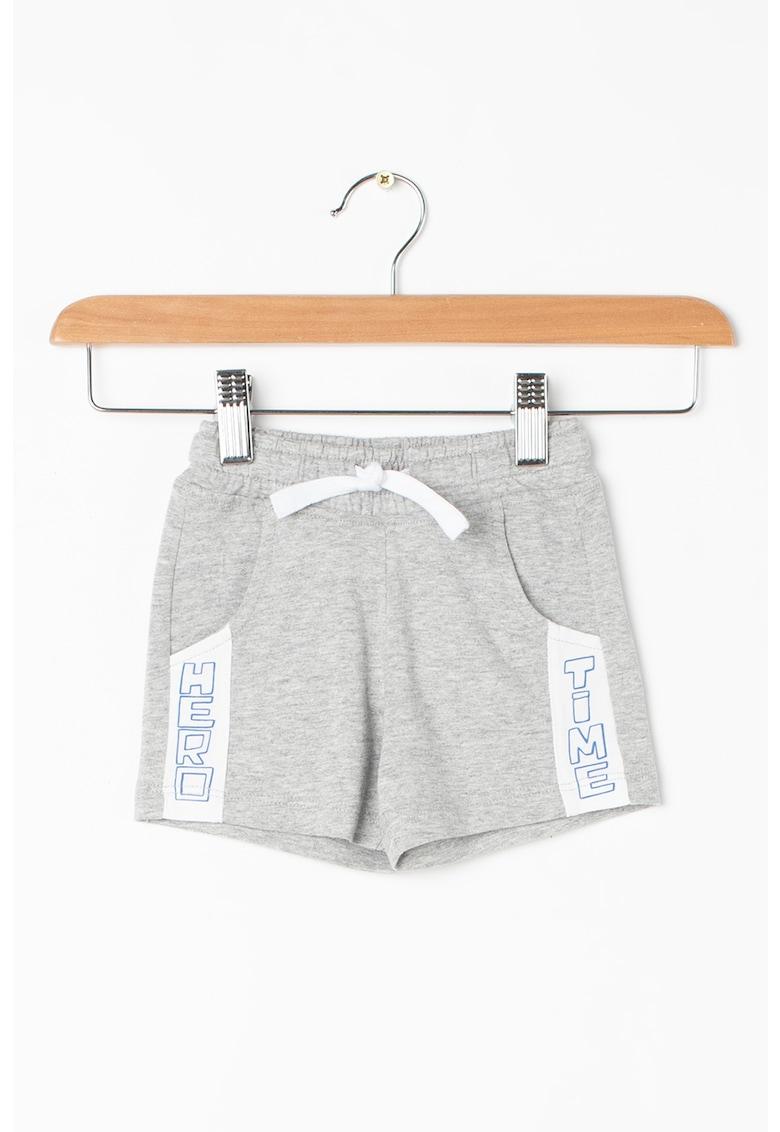 Pantaloni scurti din jerseu cu segmente contrastante cu text de la United Colors of Benetton