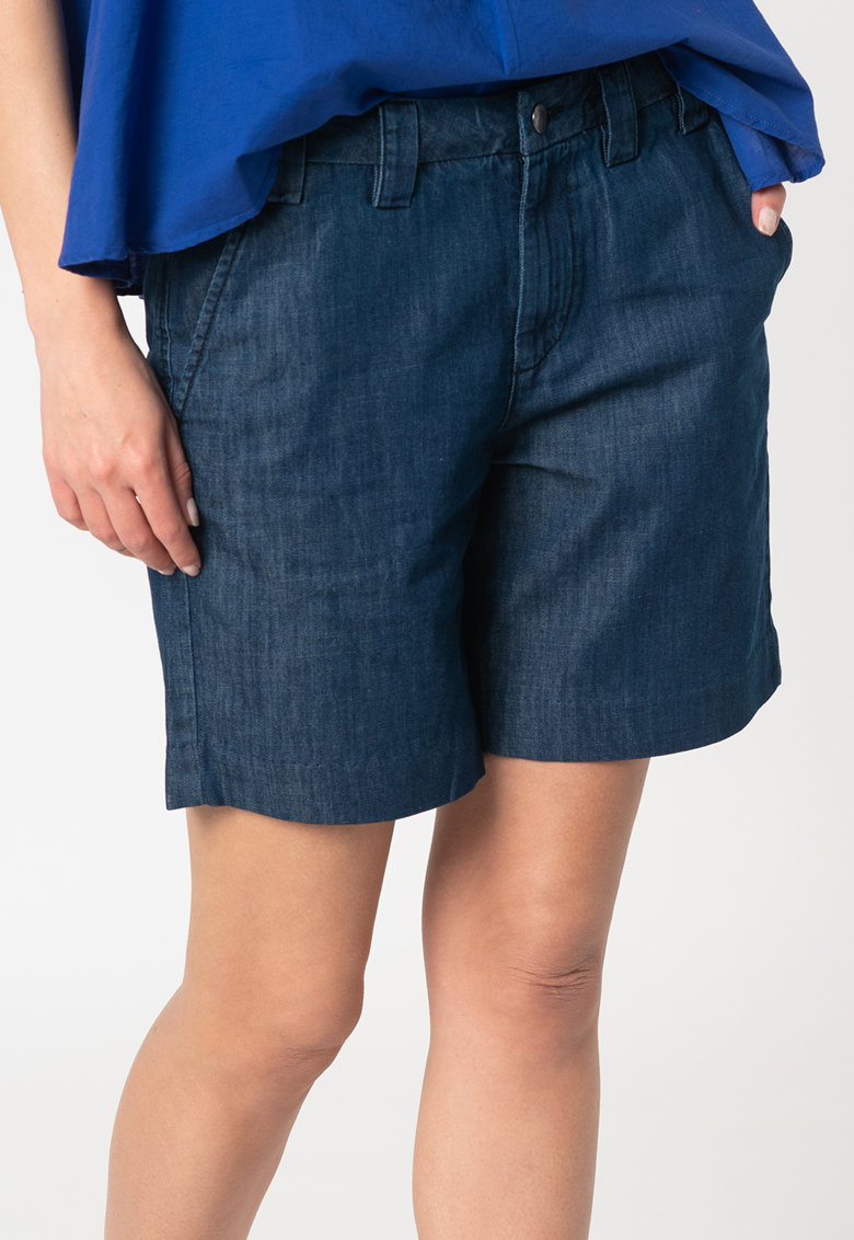 Pantaloni chino scurti din denim