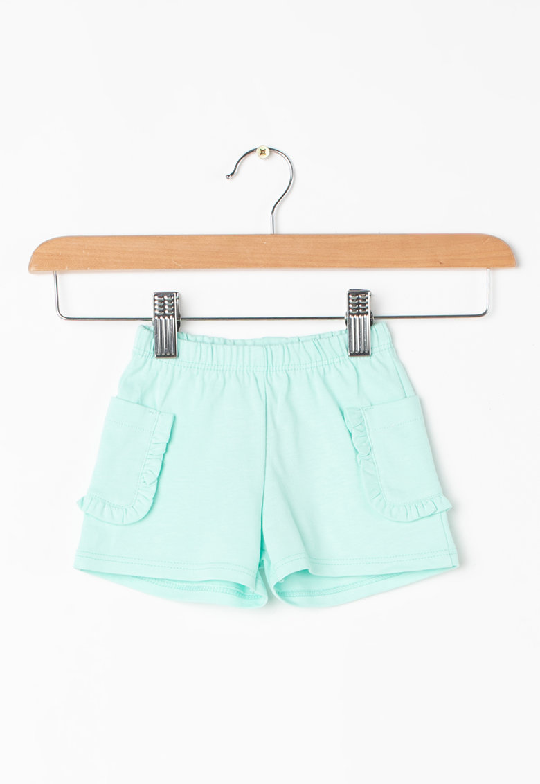 Pantaloni scurti din jerseu cu buzunare laterale cu volane