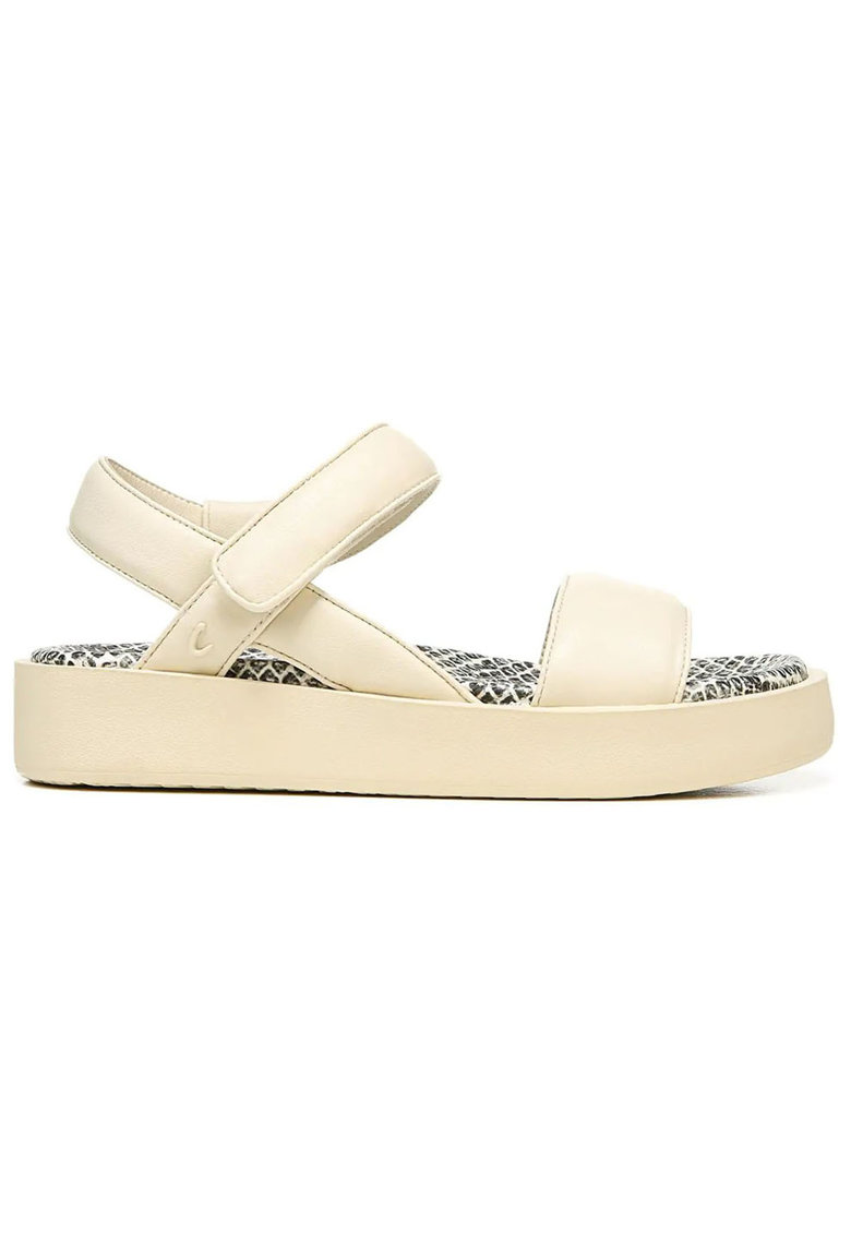 Sandale flatform de piele ecologica cu velcro Halden