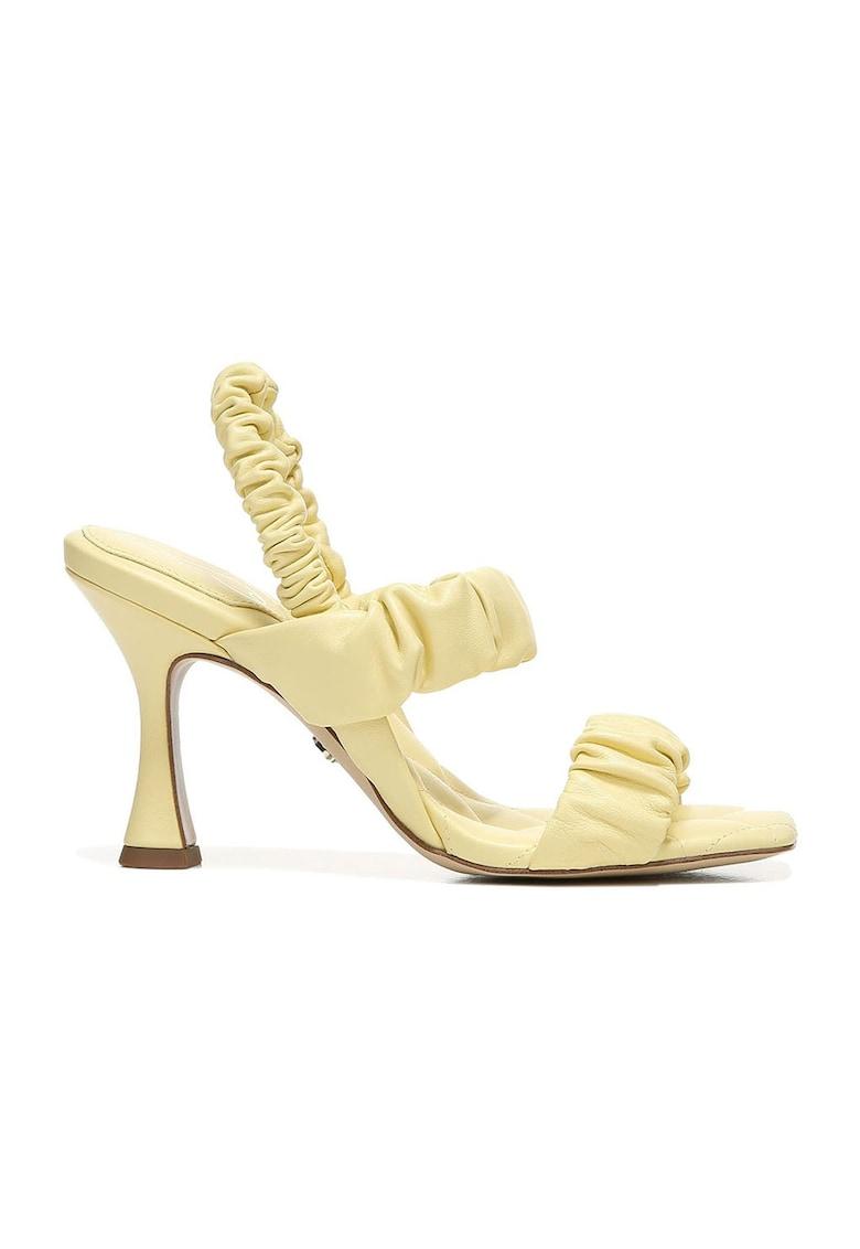 Sandale de piele cu toc Marlena