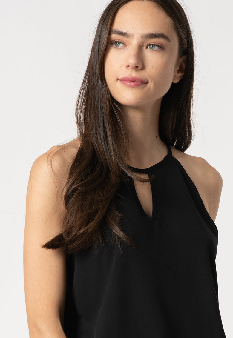 Bluza din viscoza cu decupaj frontal Alma