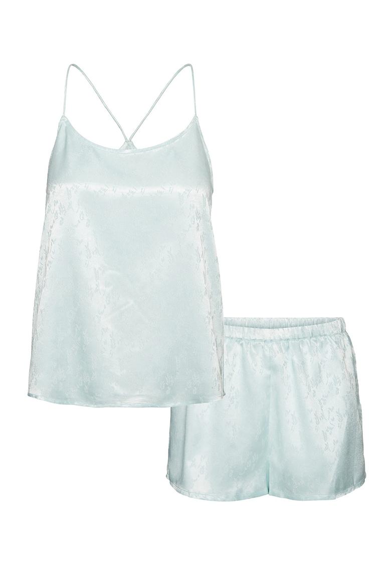 Camasa si pantaloni scurti de pijama din satin