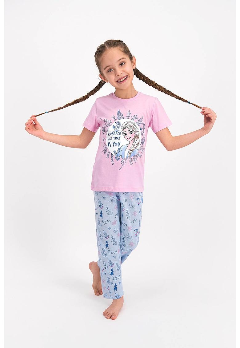Pijama cu imprimeu cu Mickey&Minnie Mouse