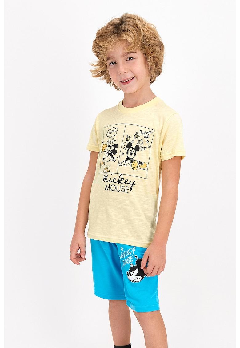 Set de jerseu cu bermude si tricou - cu imprimeu cu Mickey Mouse