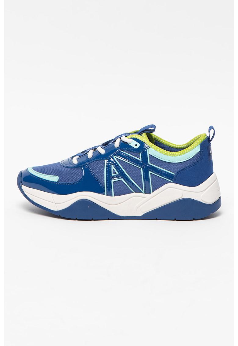 Pantofi sport cu aspect masiv si insertii de piele ecologica