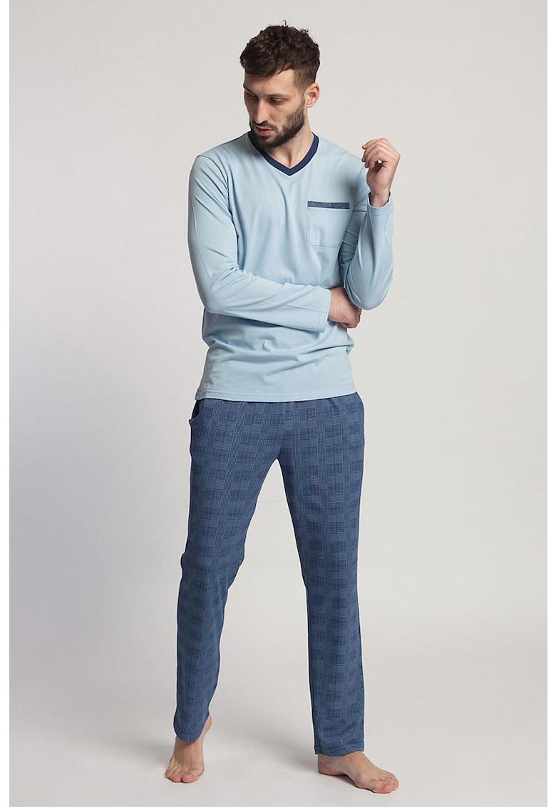 Pijama cu bluza cu maneci lungi Grant