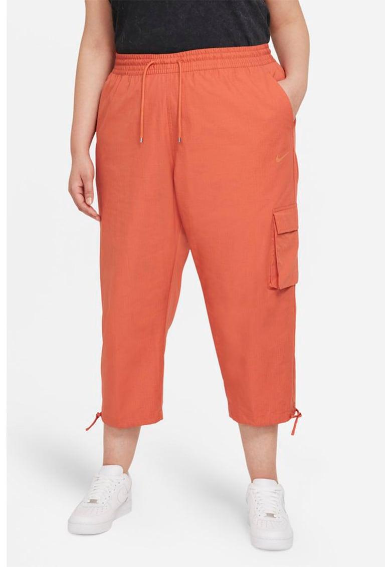 Pantaloni crop cu snur in talie Icon Clash