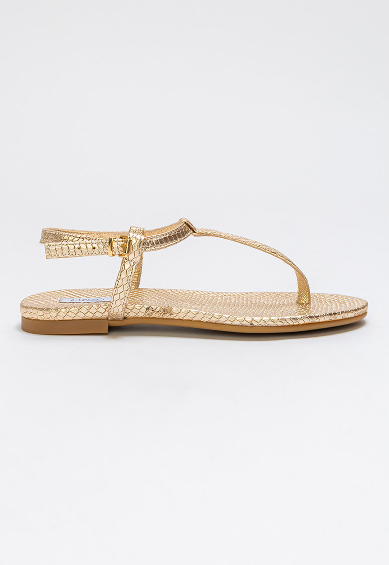 Sandale din piele cu bareta separatoare Lillie