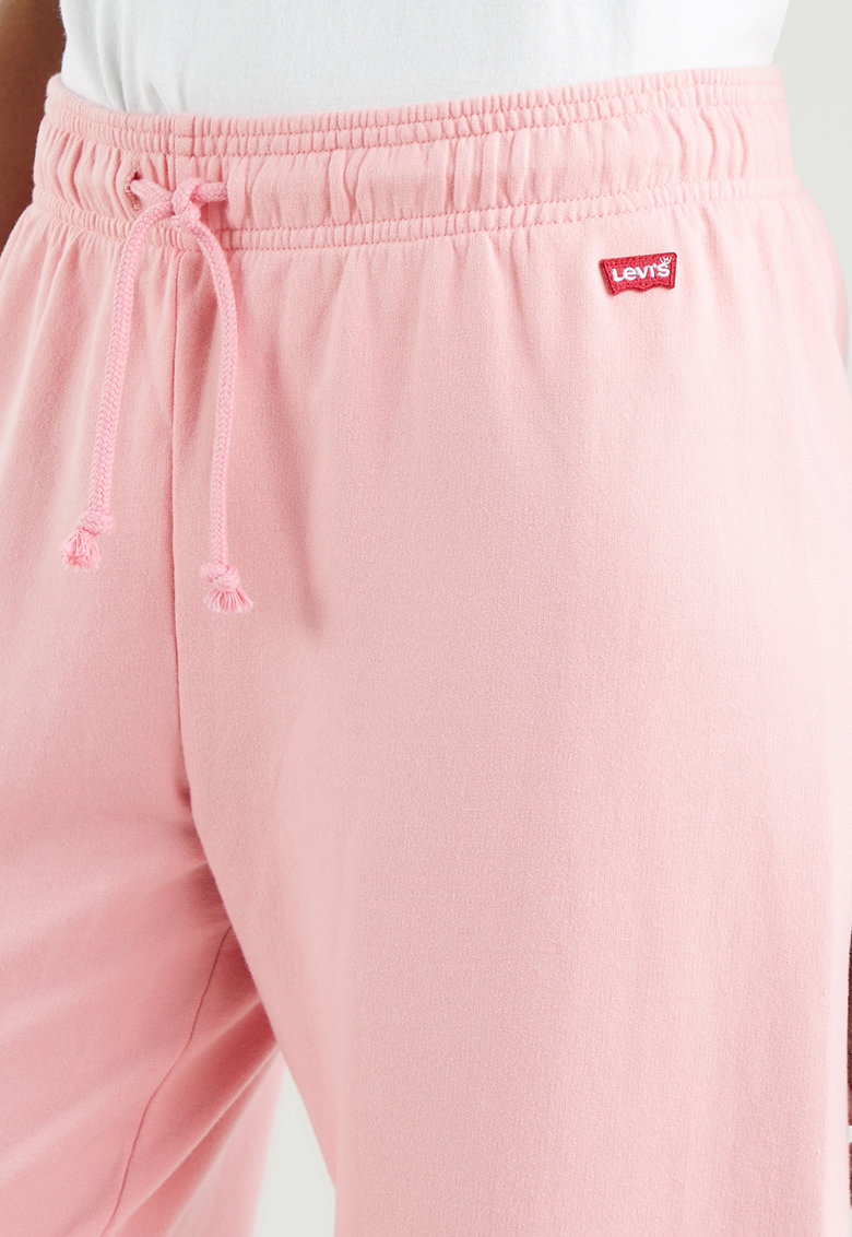 Pantaloni sport cu snur de ajustare si logo