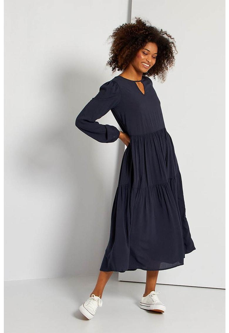 Rochie midi texturata cu aspect plisat