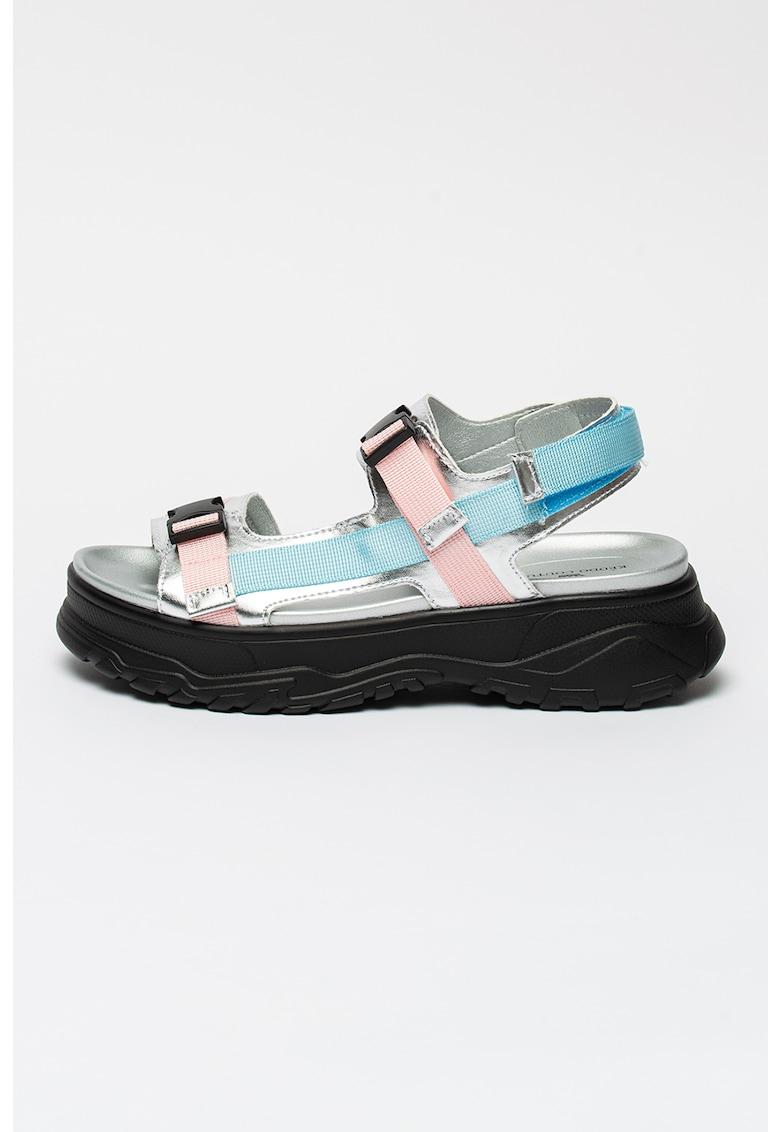 Sandale cu aspect masiv si benzi velcro
