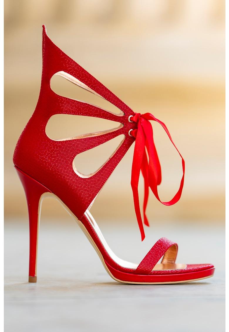 Sandale stiletto de piele intoarsa Desiree