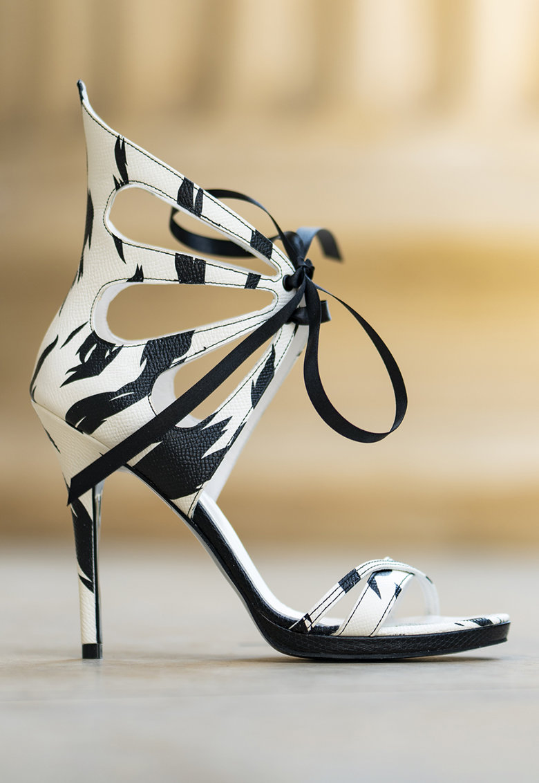 Sandale stiletto de piele Desiree