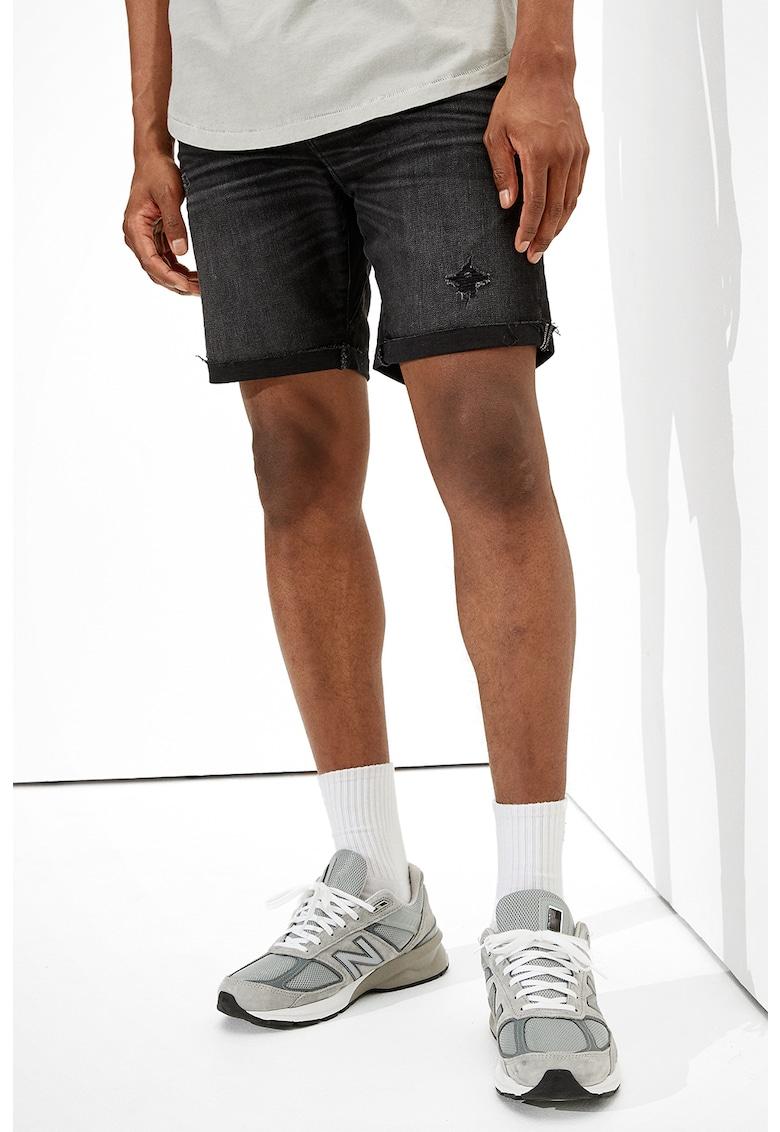 Pantaloni scurti de denim cu detalii deteriorate