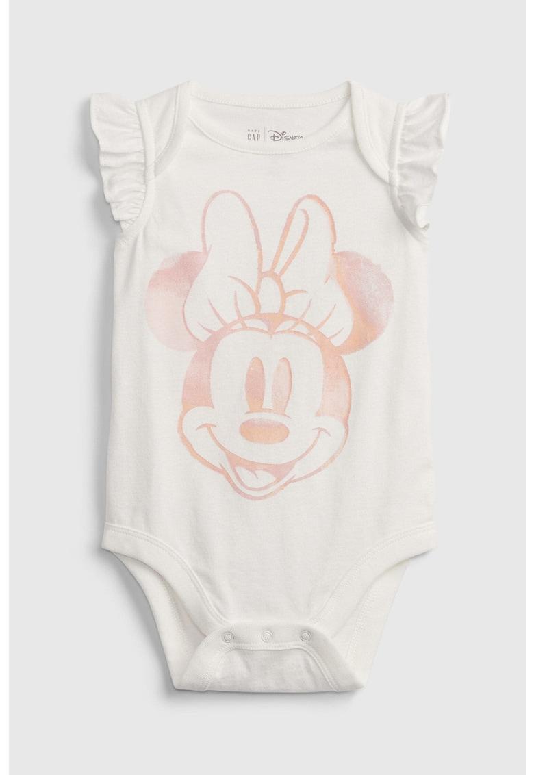 Body din bumbac organic cu imprimeu Minnie Mouse