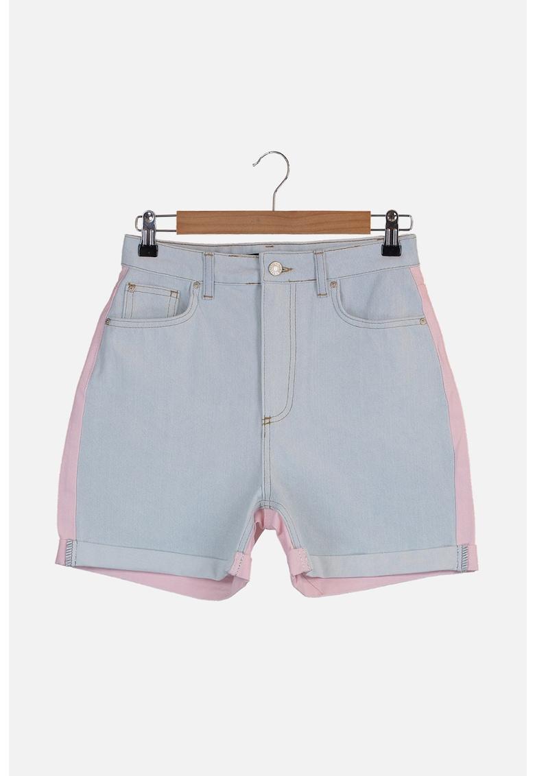 Pantaloni scurti din denim cu talie inalta