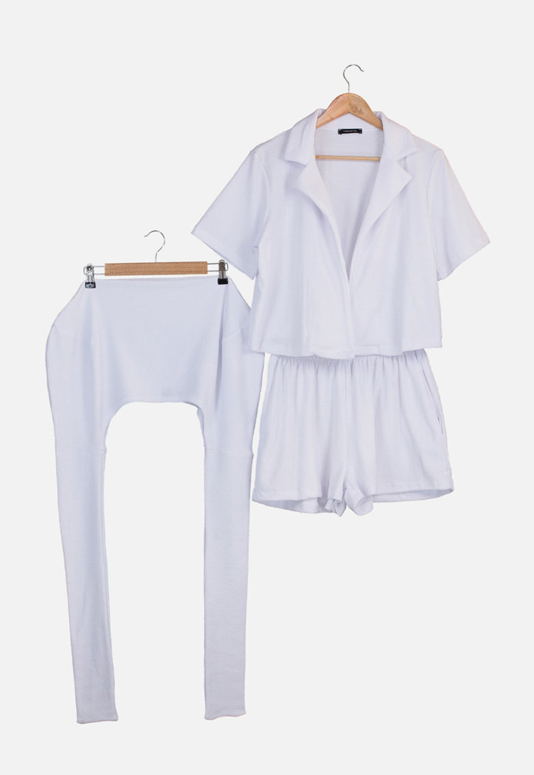 Set de camasa de plaja - pantaloni scurti si geanta