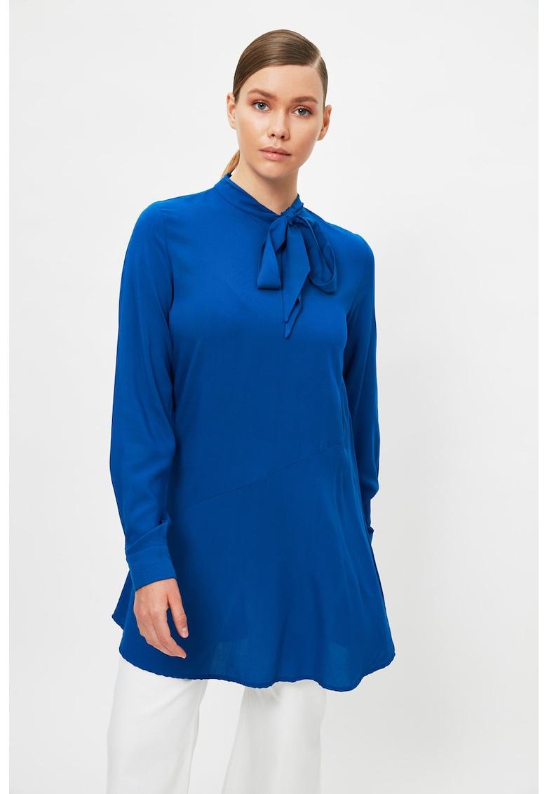 Bluza lunga cu funda din panglici