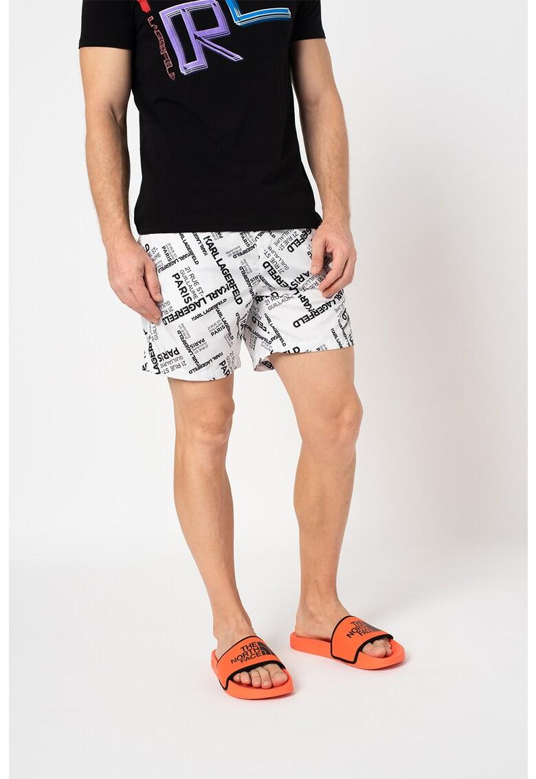 Pantaloni scurti de baie cu imprimeu logo de la Karl Lagerfeld