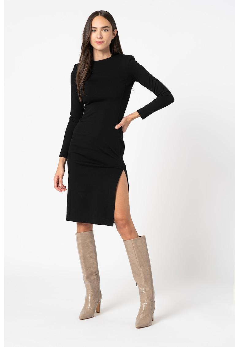 Rochie midi cu slituri laterale