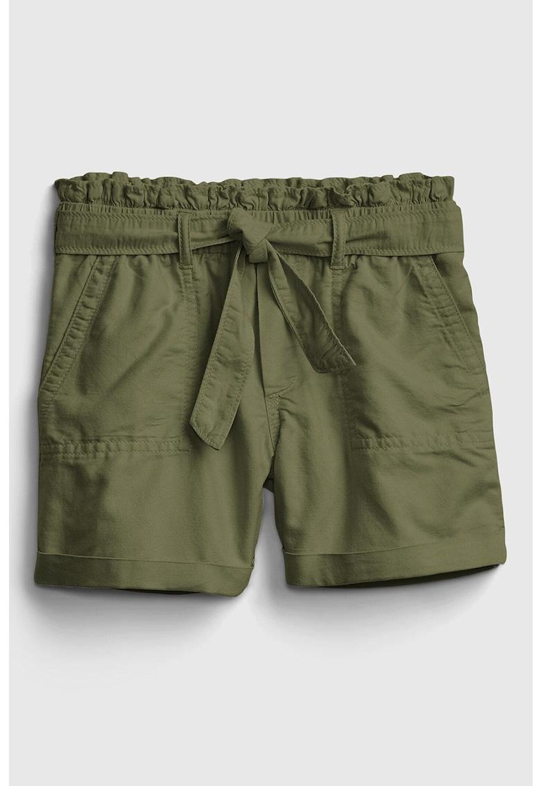 Pantaloni scurti cu talie inalta si cordon detasabil