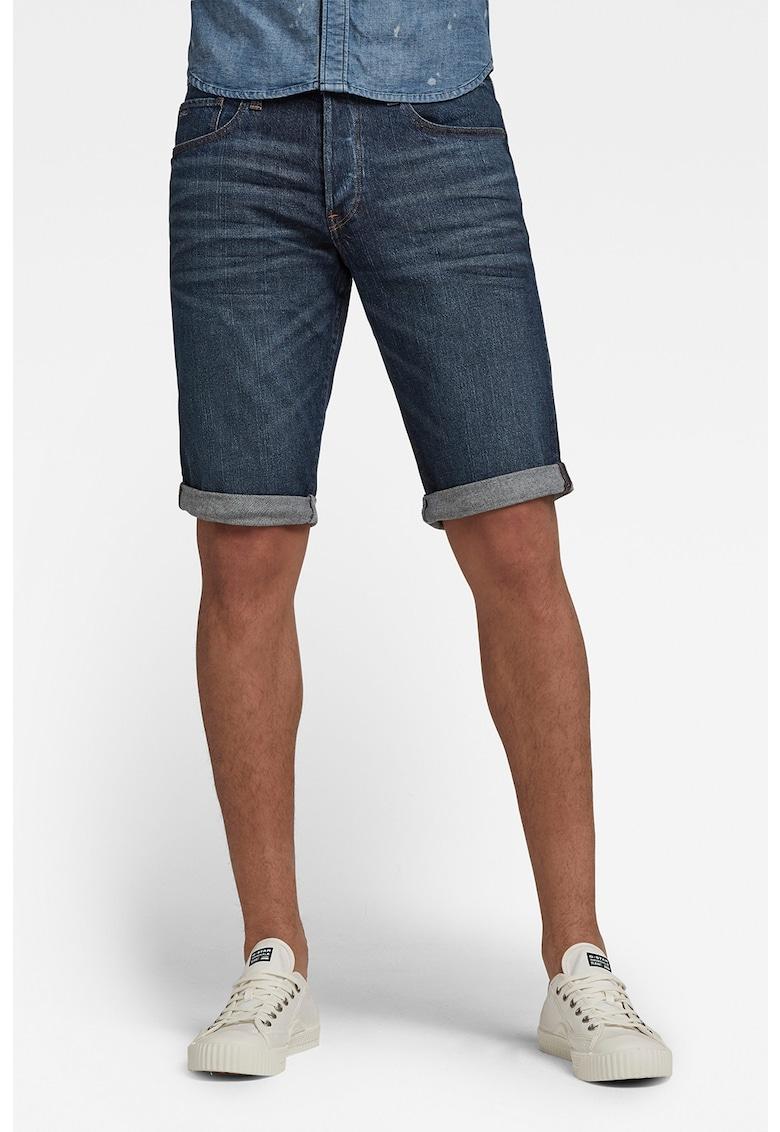 Pantaloni scurti din denim cu terminatie rasucita 3301