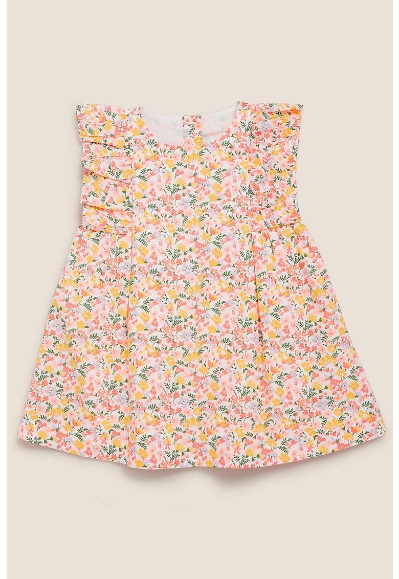 Rochie de bumbac cu imprimeu floral
