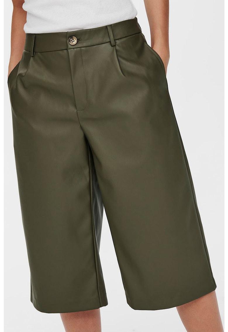 Pantaloni 3/4 de piele ecologica