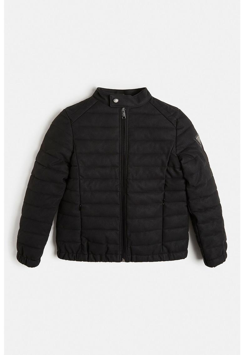 Jacheta de piele ecologica cu aspect matlasat