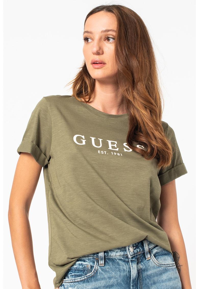 GUESS JEANS Tricou de bumbac cu imprimeu logo