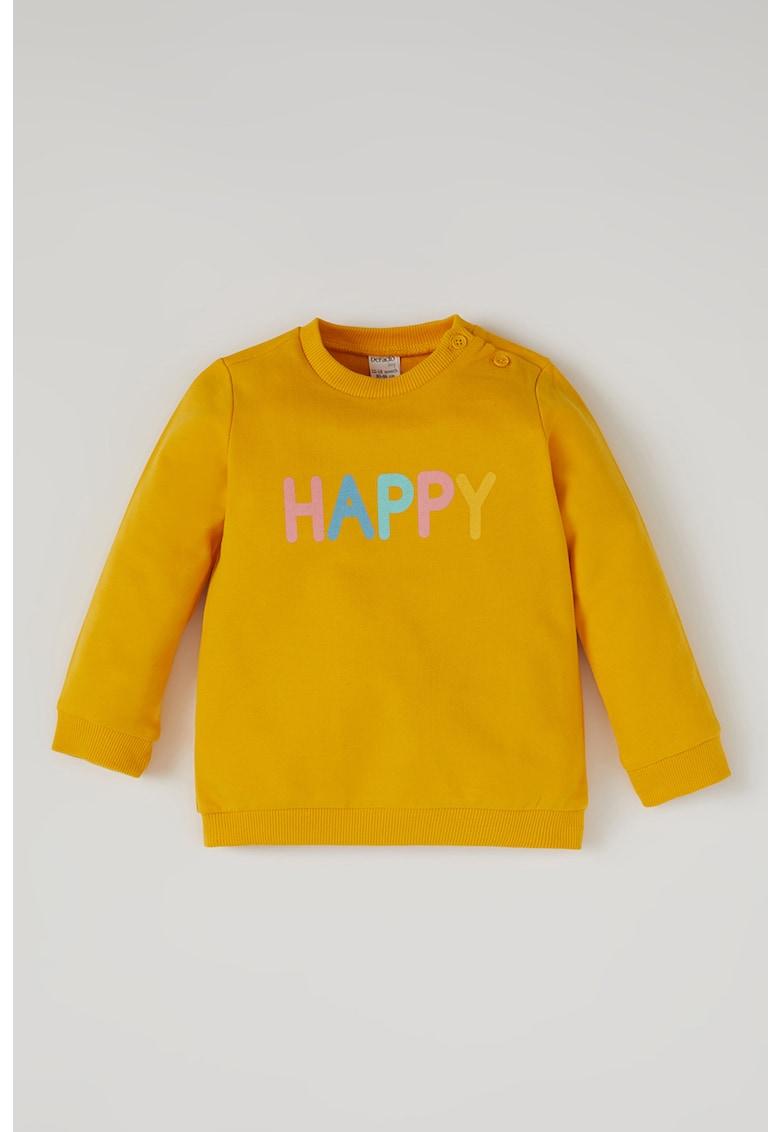 Bluza sport cu imprimeu text