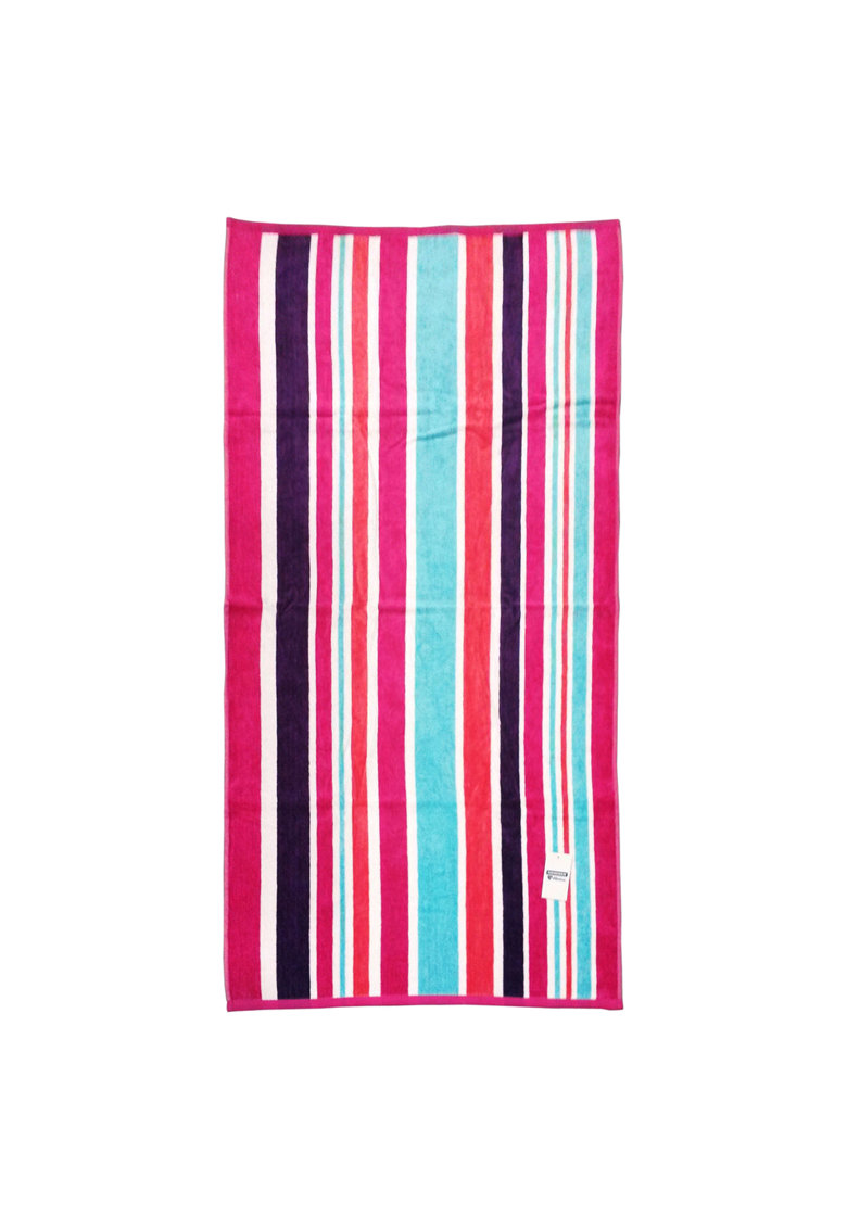 Heinner Home Prosop plaja Heiner Home Stripe Purple 70×140 cm
