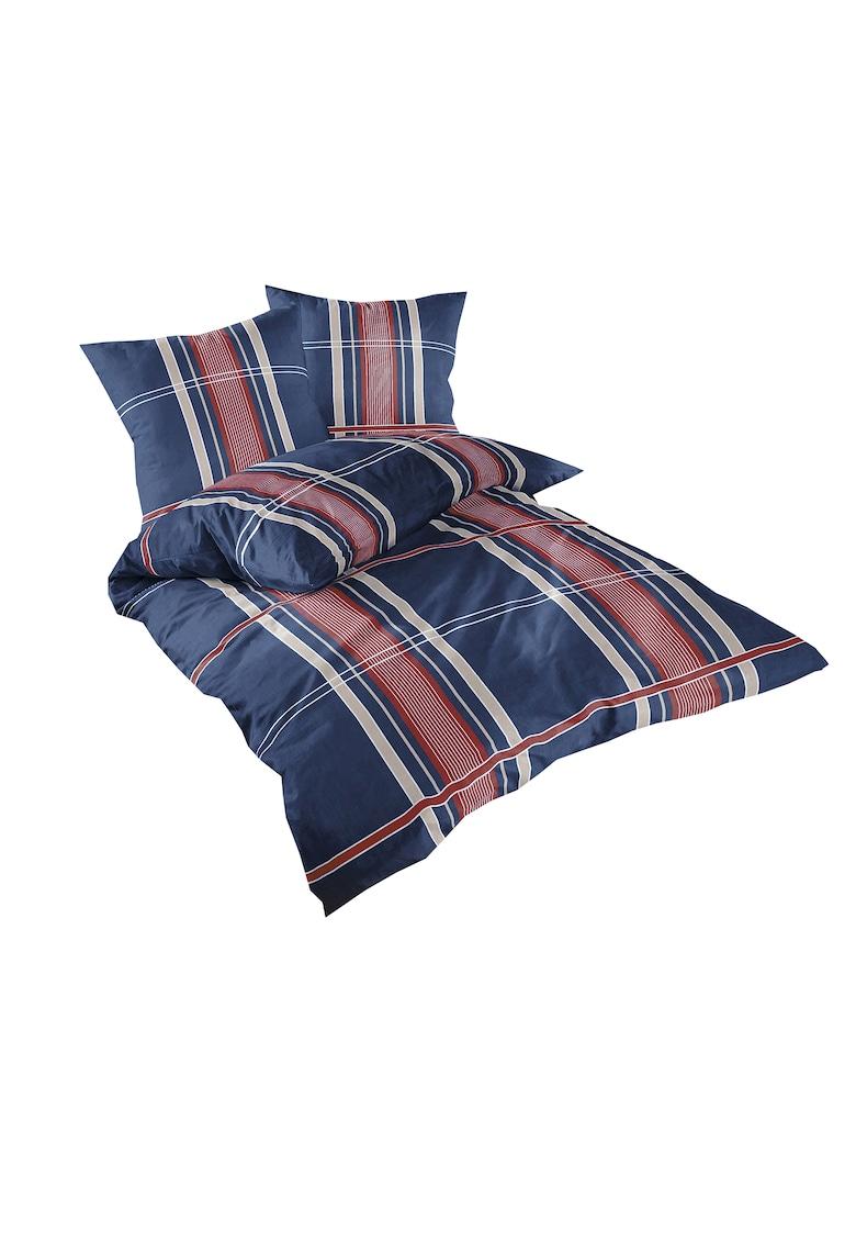 Lenjerie de pat Denim Blue pentru 2 persoane - bumbac ranforce - multicolor imagine fashiondays.ro