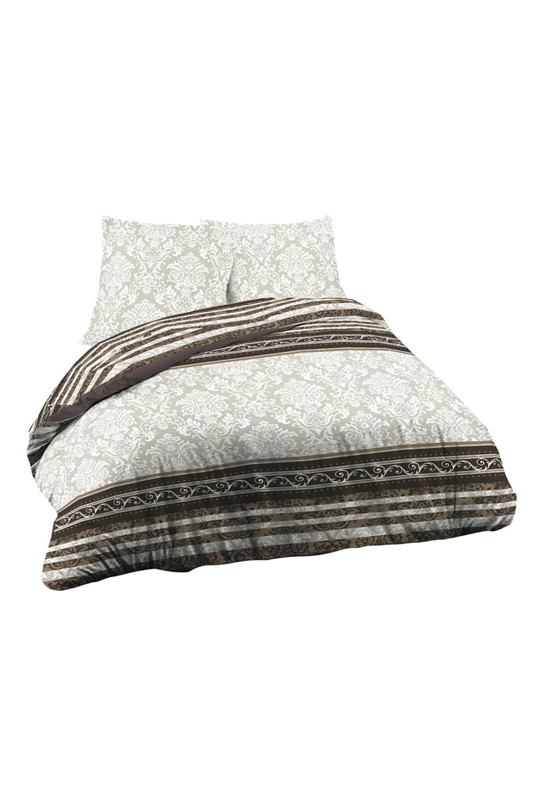 Lenjerie de pat Rococo pentru 2 persoane - bumbac ranforce - multicolor imagine fashiondays.ro