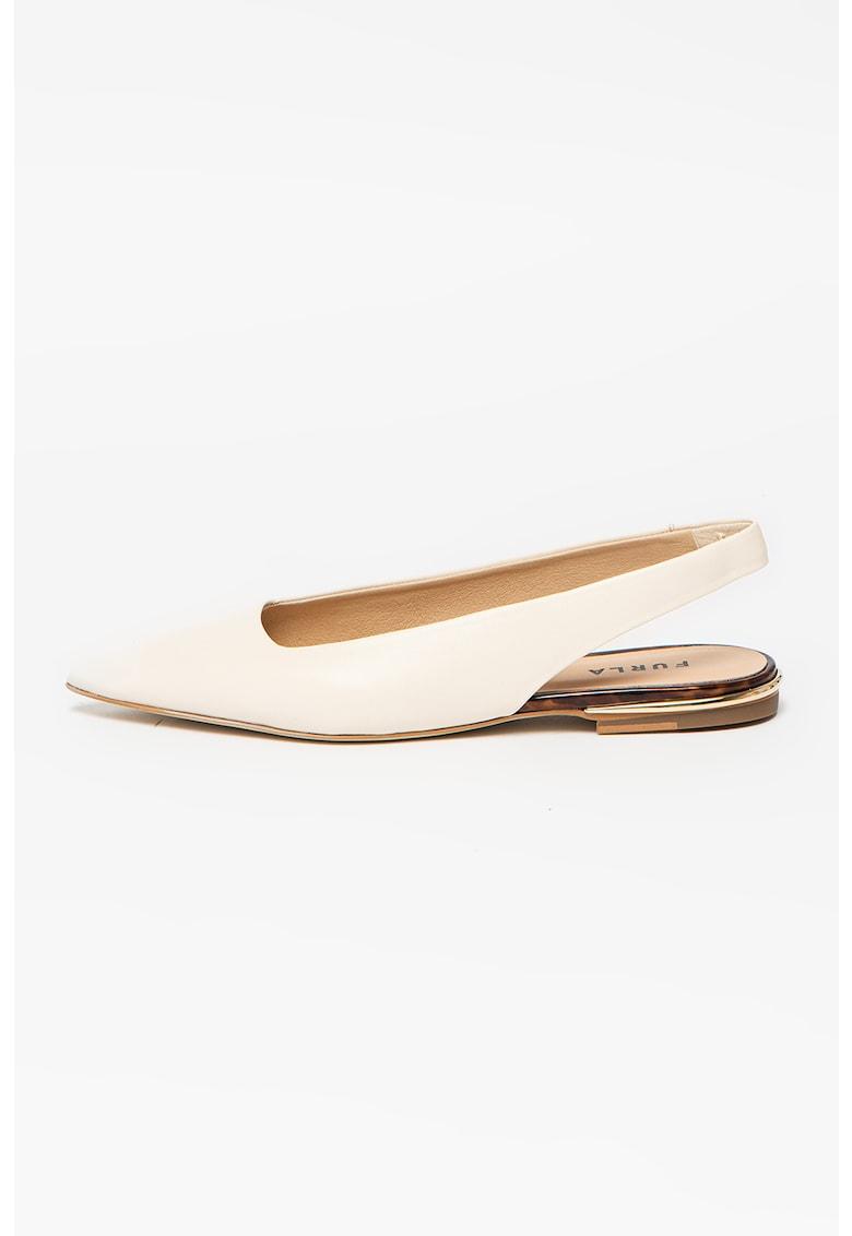 Pantofi slingback din piele cu varf ascutit