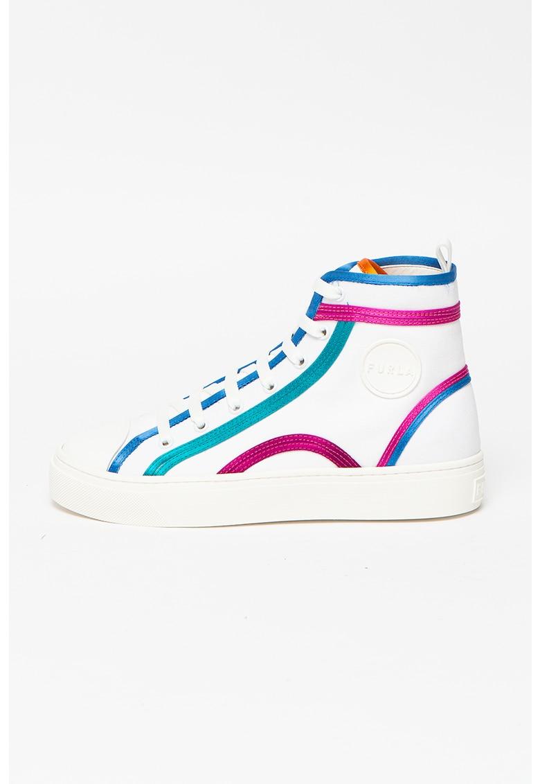 Pantofi sport inalti cu insertii din piele Binding