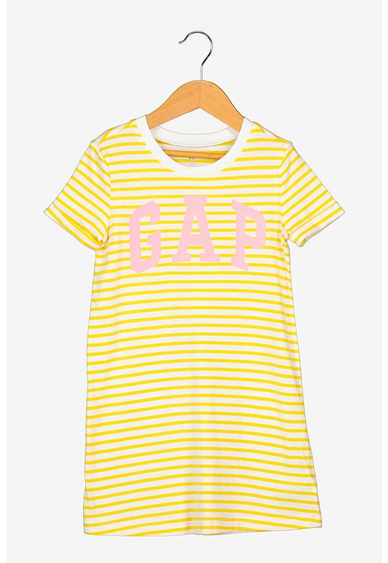 Rochie tip tricou cu logo