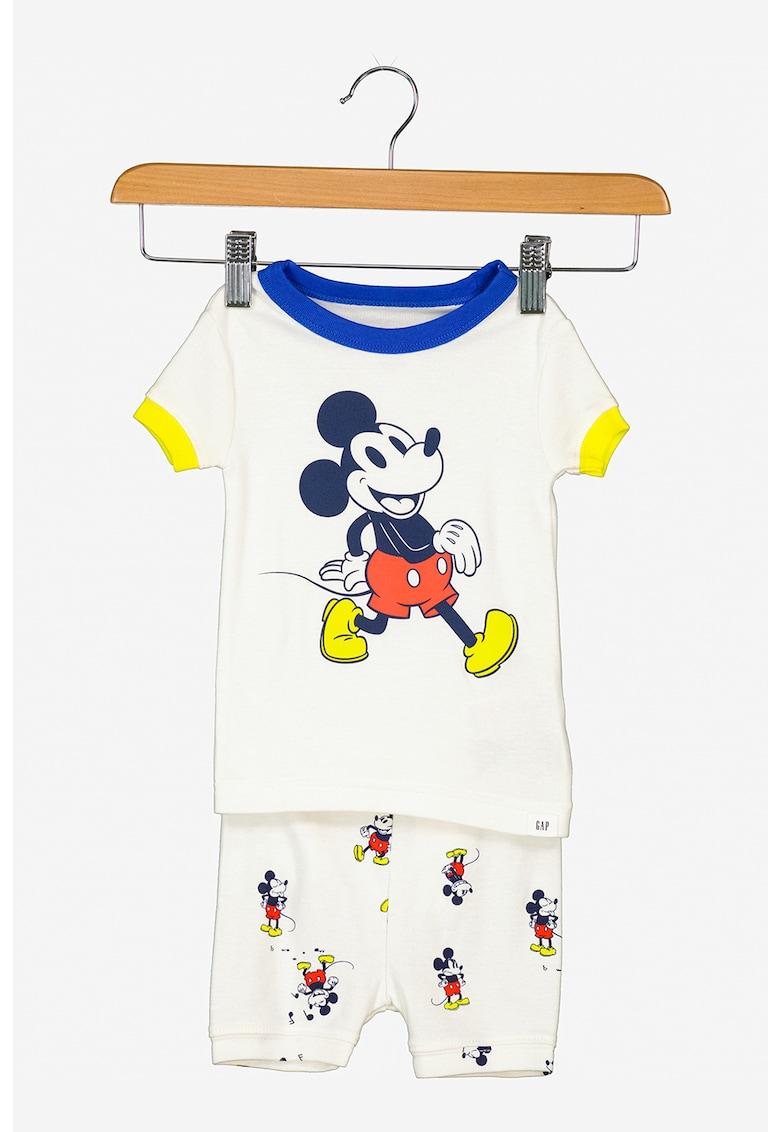 Pijama din bumbac cu Mickey Mouse
