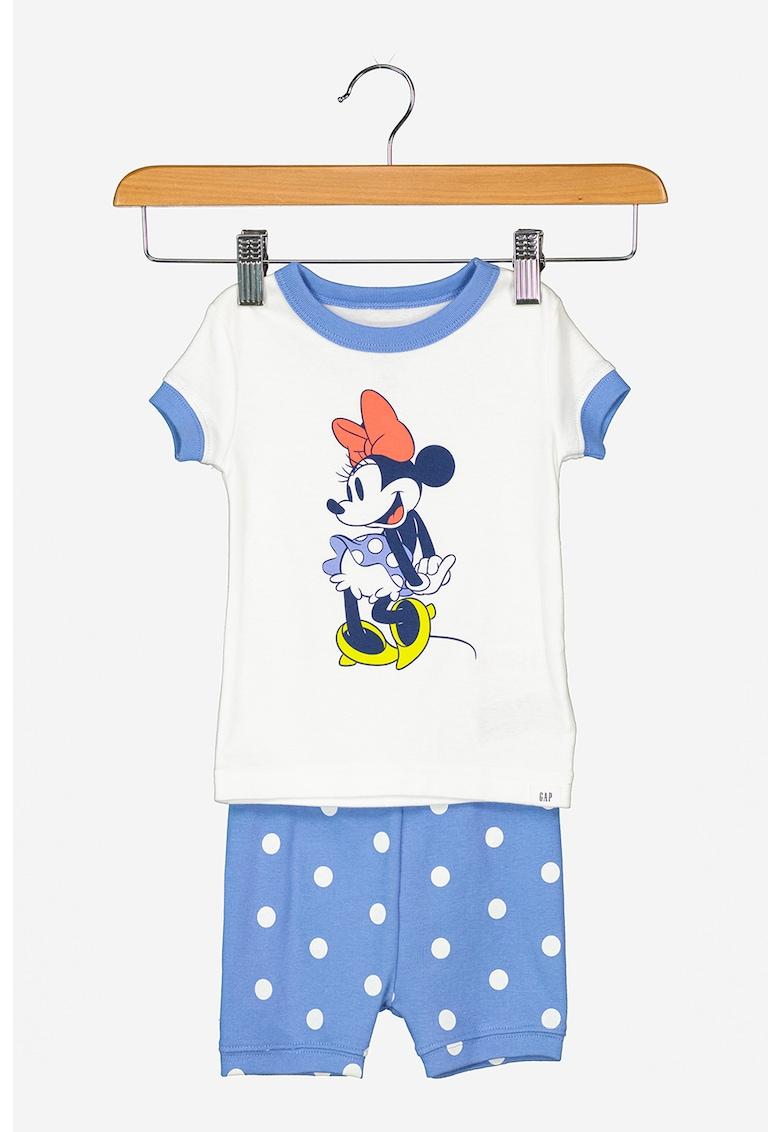 Pijama din bumbac cu Minnie Mouse