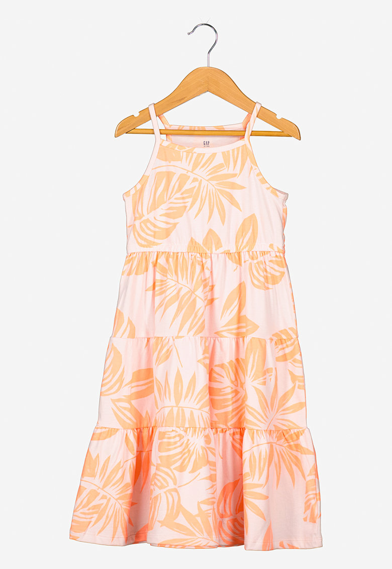Rochie midi din amestec de modal cu imprimeu floral