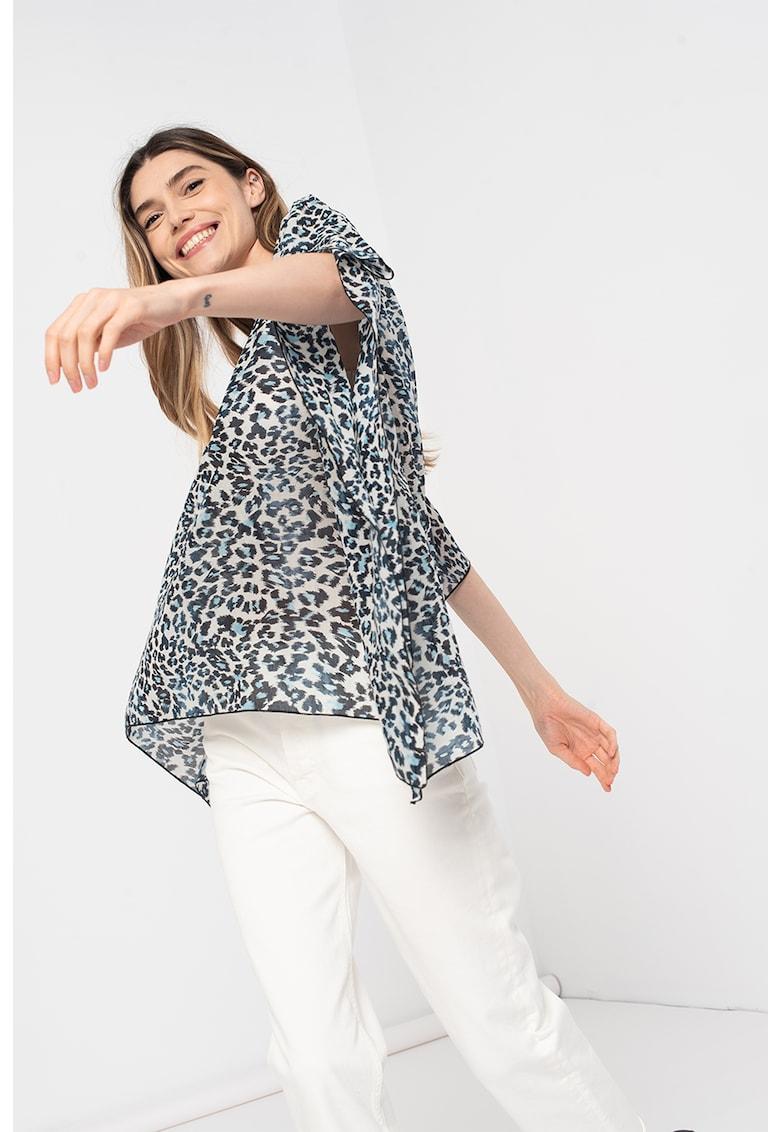 Bluza vaporoasa cu terminatie asimetrica