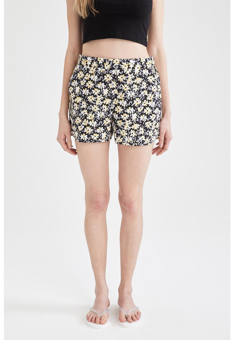 Pantaloni scurti de baie cu imprimeu floral