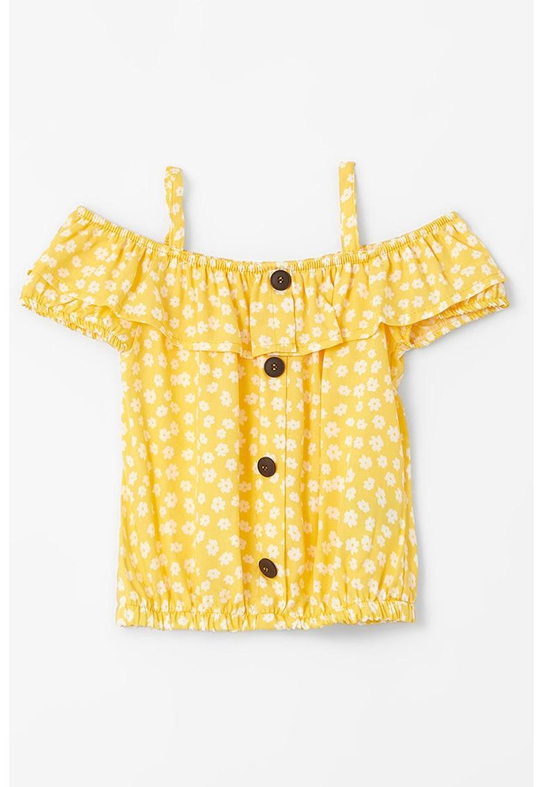 Bluza cu decupaje pe umeri si terminatie elastica
