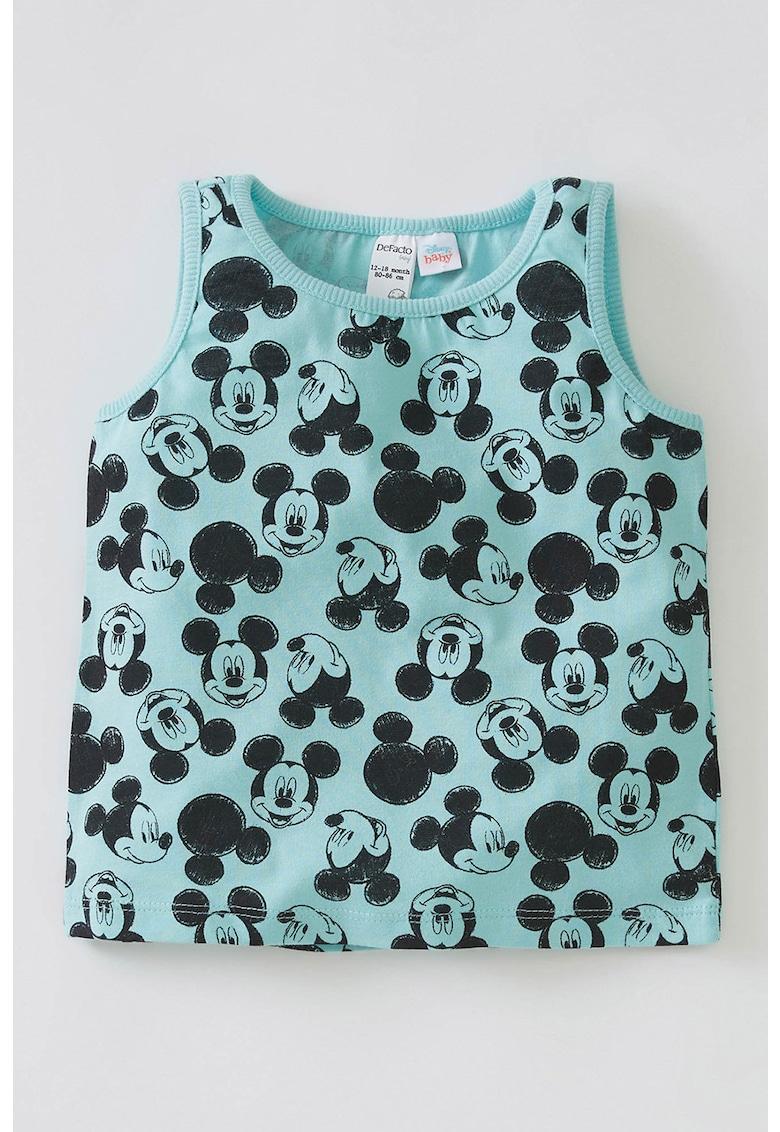 Top de pijama cu imprimeu Mickey Mouse