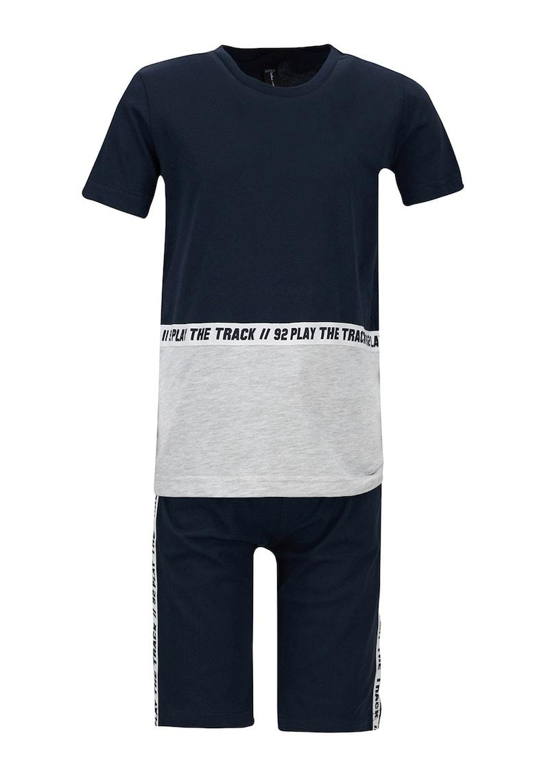 Set de tricou de casa si pantaloni scurti cu imprimeu text