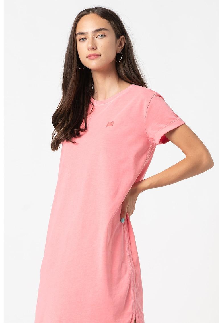 Rochie-tricou relaxed fit de bumbac organic
