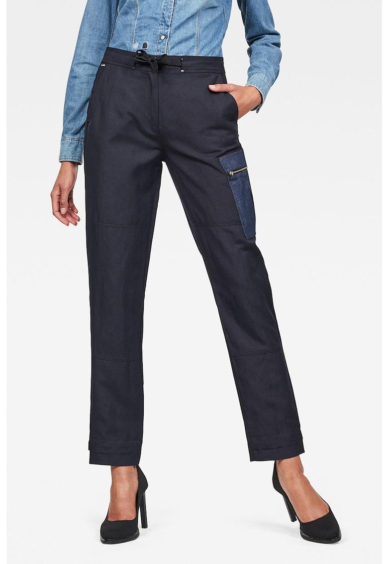 Pantaloni cargo din amestec de in Feldspar