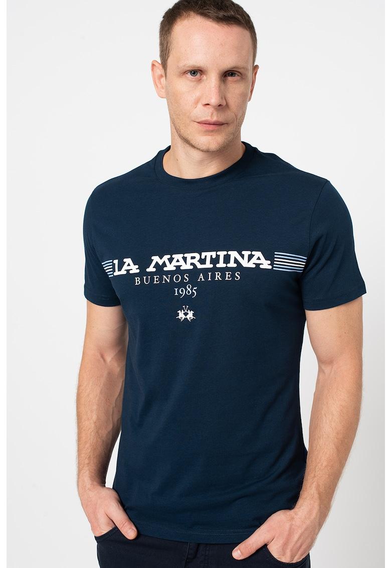 LA MARTINA Tricou regular fit de bumbac cu imprimeu logo