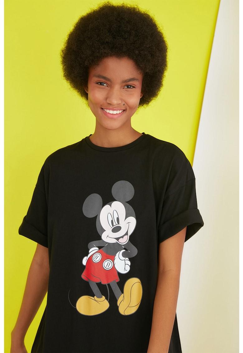 Rochie-tricou cu imprimeu Mickey Mouse
